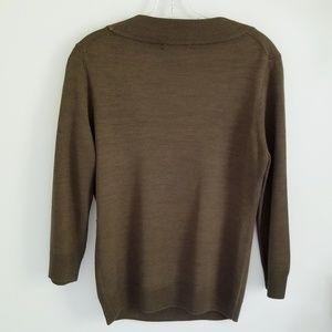 NIC+ZOE Tops - Nic + Zoe brown silk knit top petite size M